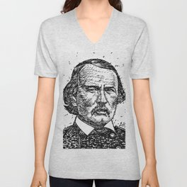 KIT CARSON ink portrait Unisex V-Neck