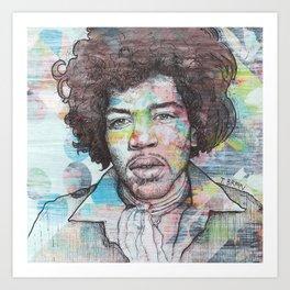 Jimi Hendrix - Can You See Me Art Print