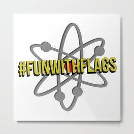 #FunWithFlags  Metal Print
