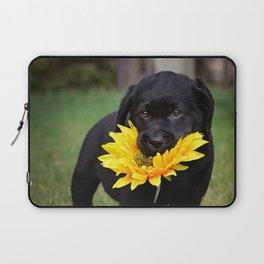 Puppies & Sunflowers Laptop Sleeve