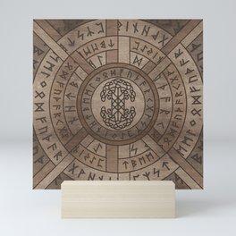 Web of Wyrd The Matrix of Fate and Tree of life Mini Art Print