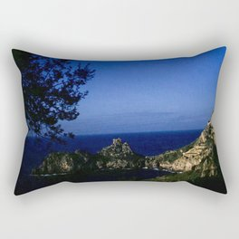 Amalfi Coast - Vintage color photo from 1940's, Italy Rectangular Pillow