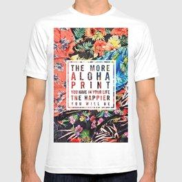 Aloha Print Life T-shirt