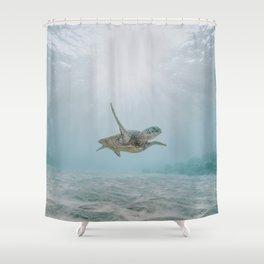 sea turtle iii Shower Curtain
