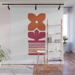 Nordic Orange Flower Wall Mural