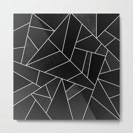 Black Stone Metal Print