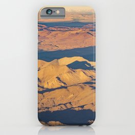 Andes Mountains Desert Aerial Landscape Scene iPhone Case
