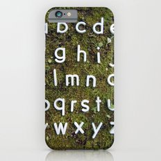 Alphabet Moss Poster iPhone 6s Slim Case