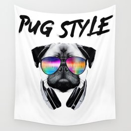 Pug Style Wall Tapestry