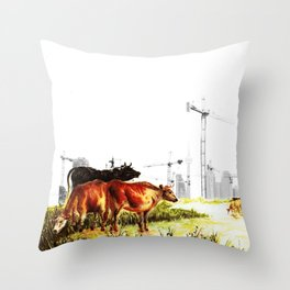 Cow detail 2 Throw Pillow