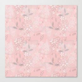 Pink floral pattern 2 Canvas Print