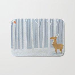 Origami deer in the Woods Bath Mat