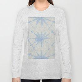 Shibori Starburst Sky Blue on Lunar Gray Long Sleeve T-shirt