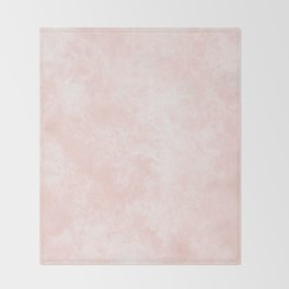 Pink Coral Marble Throw Blanket