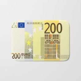 200 Euro note Bath Mat