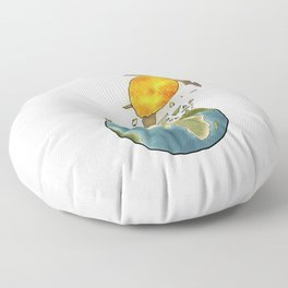 Climate changes the nature Floor Pillow