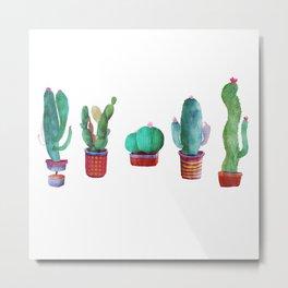 5 little cactus Metal Print