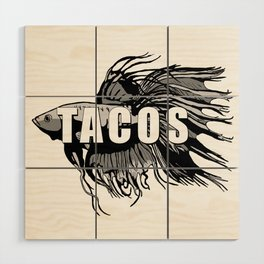 TACOS Wood Wall Art