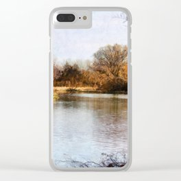 Woods Lake - Shelbyville, IL Clear iPhone Case