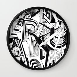 History of Art in Black and White. Conceptualism Wall Clock