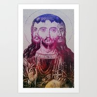 christ Art Prints featuring Thrice Christ by EclecticArtistACS
