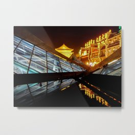 The Bell Tower, Xi'an Metal Print