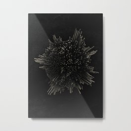 Metal Pin Globe Metal Print