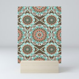 Toned Variety Pattern Mini Art Print