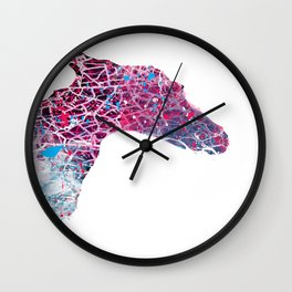 Little horse, monsters, colors Wall Clock