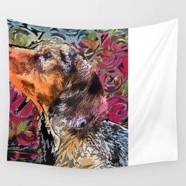 """Cucciolo di Graffito"" ~ Dachshund, Weiner Dog, Doxie, everywhere! Wall Tapestry"