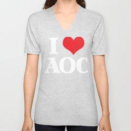 AOC  - AOC  - Alexandria Ocasio-Cortez  Unisex V-Neck