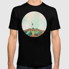 Summer Carousel Black MEDIUM Mens Fitted Tee