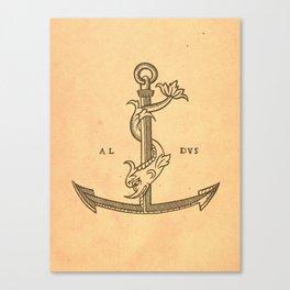 Aldus Manutius Printer Mark Canvas Print