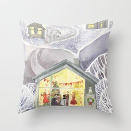 New year party Throw Pillow