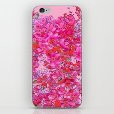 Abstract Pink Blossoms & Orange Accents Spring Art iPhone & iPod Skin