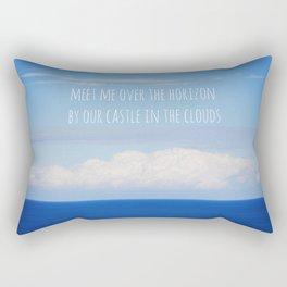 Meet me over the horizon Rectangular Pillow