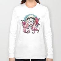 dia de los muertos Long Sleeve T-shirts featuring ¡Dia de los Muertos! by Tati Ferrigno