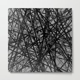Kerplunk Extended Black and White Metal Print