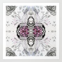 duvet cover Art Prints featuring Flower Duvet Cover by Tintedfaint