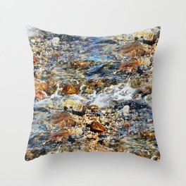 Peaceful Soothing Waters Throw Pillow