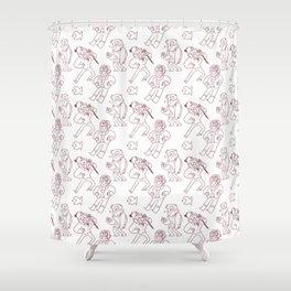 Stanley Pines Pattern Shower Curtain