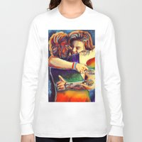 larry Long Sleeve T-shirts featuring Home - Larry by art-changes