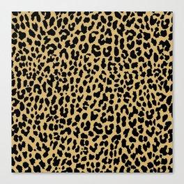 Neon Classic Leopard Canvas Print