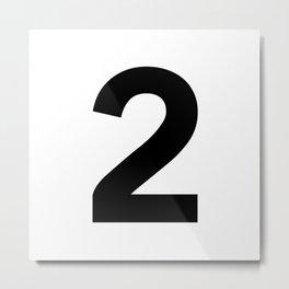 Number 2 (Black & White) Metal Print