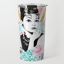 Iconic Audrey Hepburn Travel Mug