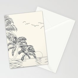Beach Linescape Stationery Cards