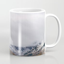 Crummock Water, with snow covered fells. Cumbria, UK. Coffee Mug