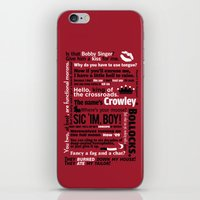 crowley iPhone & iPod Skins featuring Supernatural - Crowley Quotes by natabraska