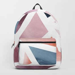 Abstract Geometric Watercolor Backpack