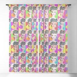 Pop Art Barbie Sheer Curtain